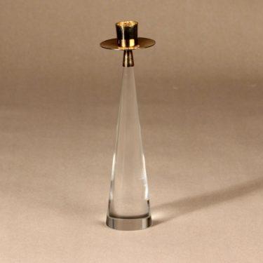Iittala Ascot kynttilänjalka, Kirkas, kulta, suunnittelija Timo Sarpaneva, kullattu