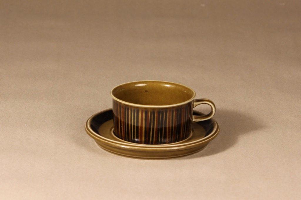 Arabia Kosmos tea cup, blown decoration, Gunvor Olin-Grönqvist