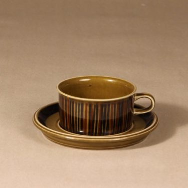 Arabia Kosmos tea cup, blown decoration, Gunvor Olin-Grönqvist