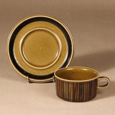Arabia Kosmos tea cup, blown decoration, Gunvor Olin-Grönqvist, 2