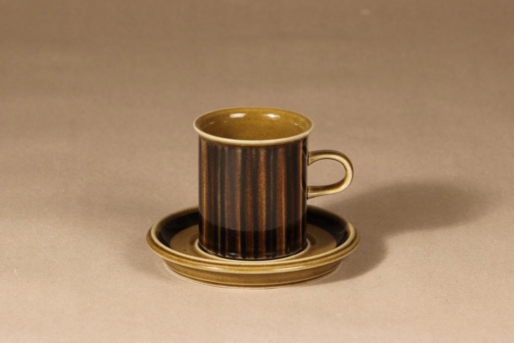 Arabia Kosmos kahvikuppi, puhalluskoriste, suunnittelija Gunvor Olin-Grönqvist, puhalluskoriste, puhalluskoriste, retro, signeerattu