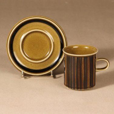 Arabia Kosmos kahvikuppi, puhalluskoriste, suunnittelija Gunvor Olin-Grönqvist, puhalluskoriste, puhalluskoriste, retro, signeerattu kuva 2