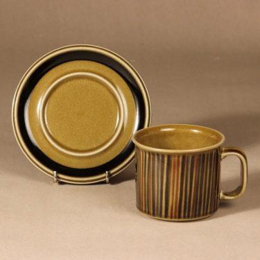 Arabia Kosmos cocoa cup, blow decoration, designer Gunvor Olin-Grönqvist, retro, signed, 2