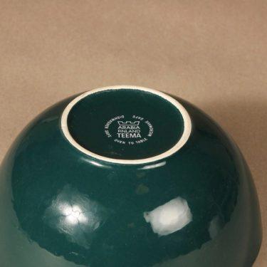 Arabia Teema bowl, green, designer Kaj Franck, 2