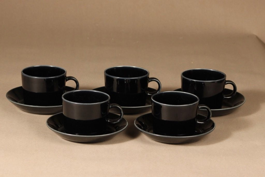 Arabia Teema kahvikuppi, 5 kpl, 5 kpl, suunnittelija Kaj Franck, 5 kpl