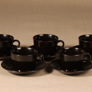 Arabia Kilta teekuppi, 5 kpl, 5 kpl, suunnittelija Kaj Franck, 5 kpl