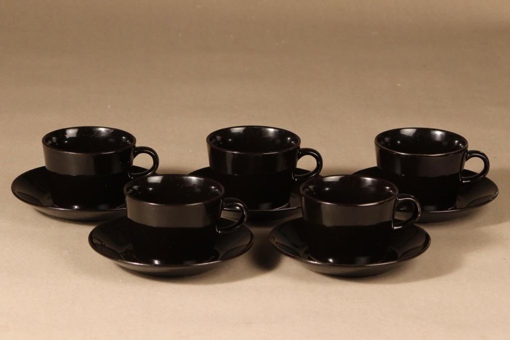 Arabia Kilta tea cups, 5 pcs, designer Kaj Franck