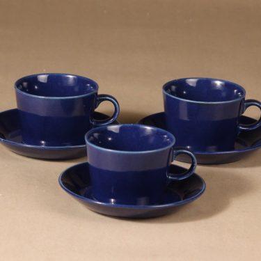 Arabia Kilta teekuppi, 3 kpl, 3 kpl, suunnittelija Kaj Franck, 3 kpl