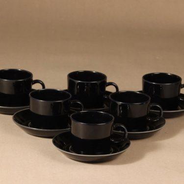 Arabia Teema kahvikuppi, 6 kpl, 6 kpl, suunnittelija Kaj Franck, 6 kpl
