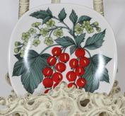 Arabia Botanica Punainen viinimarja koristelautanen, suunnittelija Esteri Tomula