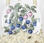 Arabia Botanica Mustikka koristelautanen, suunnittelija Esteri Tomula