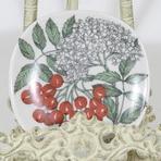 Arabia Botanica Pihlaja koristelautanen, suunnittelija Esteri Tomula