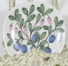 Arabia Botanica Juolukka koristelautanen, suunnittelija Esteri Tomula