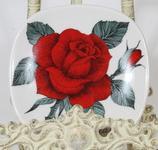 Arabia Rosa baccara koristelautanen, suunnittelija Esteri Tomula
