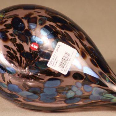 Iittala Birds by Toikka taidelasilintu, Viitakerttu Reed Warbler, suunnittelija Oiva Toikka, Viitakerttu Reed Warbler, signeerattu kuva 5