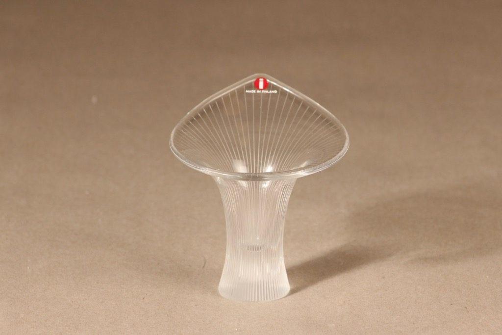 Iittala art glass, Kantarelli, designer Tapio Wirkkala, Kantarelli, small, signed, line polished