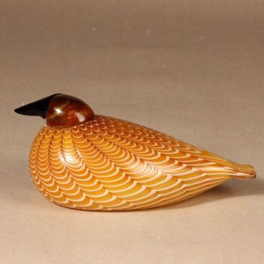 Nuutajärvi Birds by Toikka taidelasilintu, Hakki vuosilintu 1996, suunnittelija Oiva Toikka, Hakki vuosilintu 1996, signeerattu, vuosilintu
