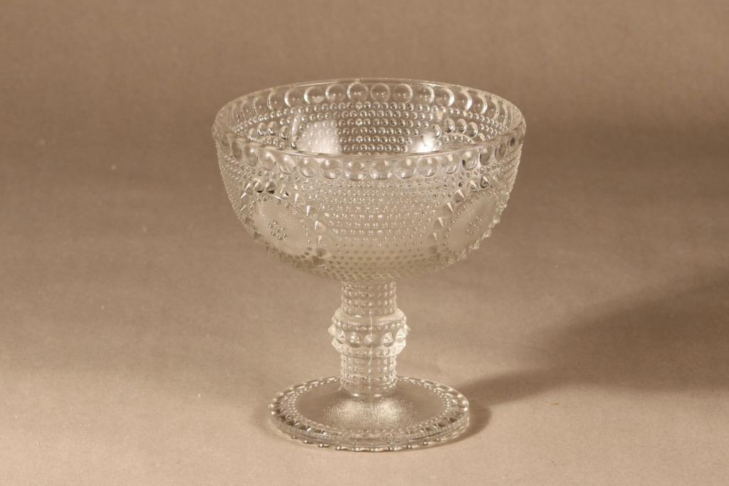 Riihimäen lasi Grapponia kulho, jalallinen, suunnittelija Nanny Still, jalallinen, jalallinen