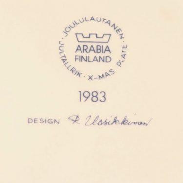 Arabia joululautanen, 1983,   kpl, suunnittelija Raija Uosikkinen, 1983, serikuva kuva 2