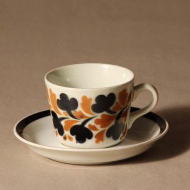 Arabia Vappu coffee cup, blown decoration, retro