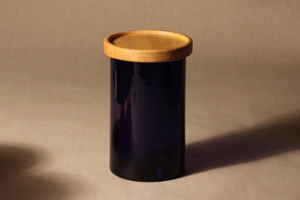 Nuutajärvi Purtilo jar with wooden lid, designer Kaj Franck