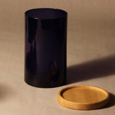 Nuutajärvi Purtilo jar with wooden lid, designer Kaj Franck, 2