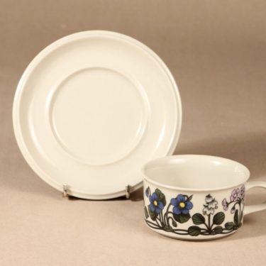 Arabia Flora teekuppi, suunnittelija Esteri Tomula, serikuva, kukka-aihe kuva 2