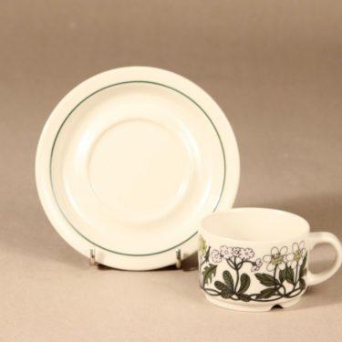 Arabia Flora kahvikuppi, suunnittelija Esteri Tomula, serikuva, kukka-aihe kuva 2