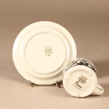Arabia Flora kahvikuppi, suunnittelija Esteri Tomula, serikuva, kukka-aihe kuva 3