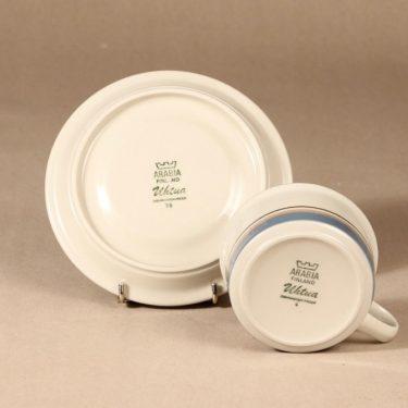 Arabia Uhtua teekuppi, suunnittelija Inkeri Leivo, raitakoriste kuva 3