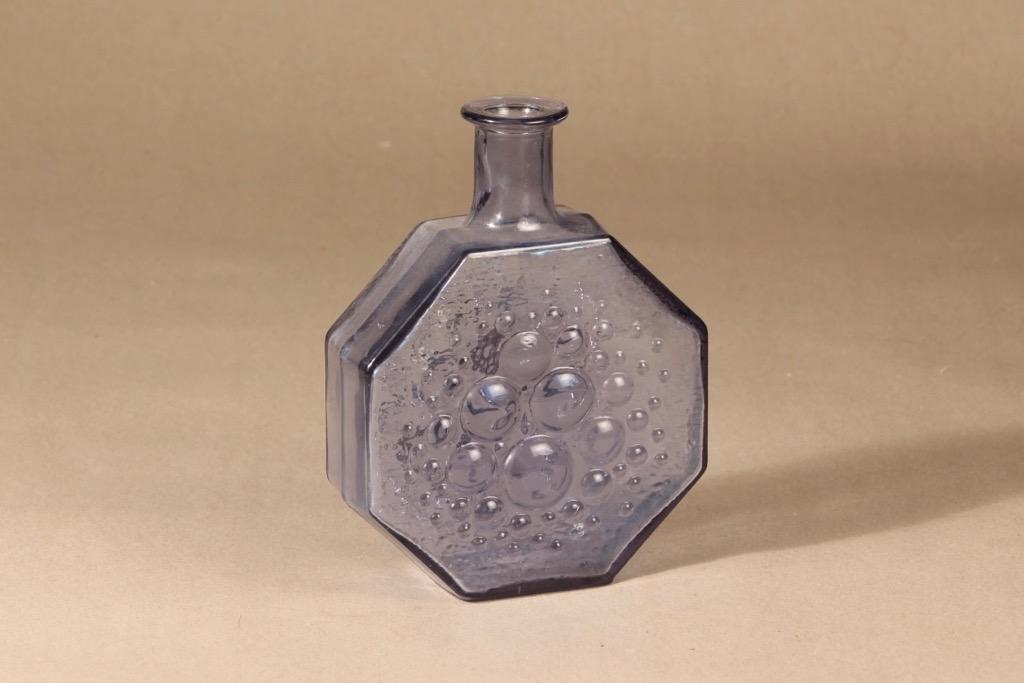 Riihimäen lasi Stella Polaris bottle blue-gray design Nanny Still