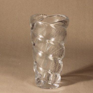 Riihimäen lasi Barokki taidelasimaljakko, käsinhiottu, suunnittelija Gunnel Nyman, käsinhiottu, massiivinen, signeerattu