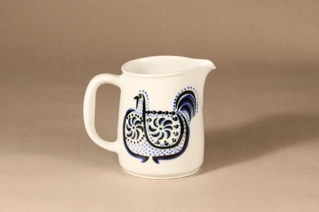 Arabia Lintu jug, 1 l, designer Birger Kaipiainen, blown decoration