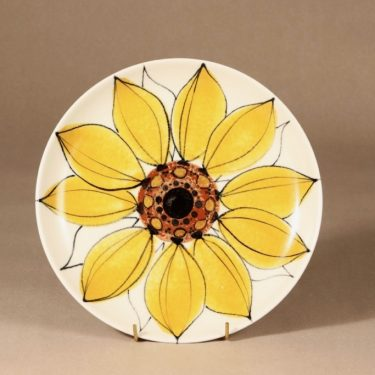 Arabia Aurinkoruusu lautanen, käsinmaalattu, suunnittelija Hilkka-Liisa Ahola, käsinmaalattu, käsinmaalattu, matala, signeerattu kuva 2