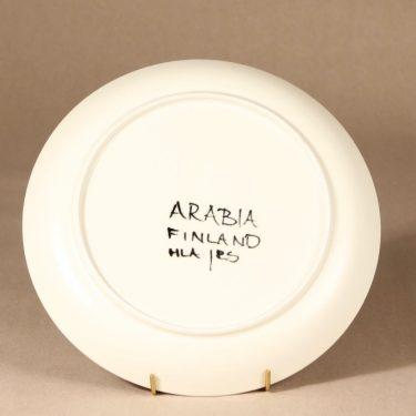 Arabia Aurinkoruusu lautanen, käsinmaalattu, suunnittelija Hilkka-Liisa Ahola, käsinmaalattu, käsinmaalattu, matala, signeerattu kuva 3