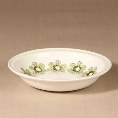 Arabia Primavera lautanen, syvä, suunnittelija Esteri Tomula, syvä, serikuva, kukka-aihe, syvä