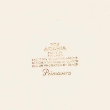 Arabia Primavera lautanen, matala, suunnittelija Esteri Tomula, matala, serikuva, kukka-aihe, pieni kuva 2