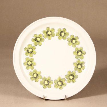 Arabia Primavera lautanen, matala, suunnittelija Esteri Tomula, matala, serikuva, kukka-aihe, pieni