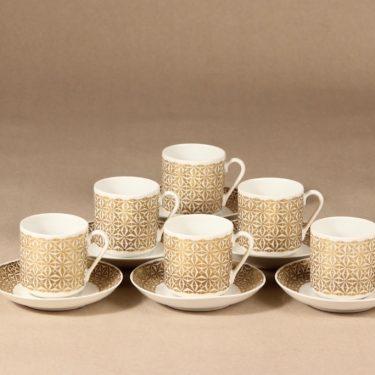 Arabia Haaremi mocha cup and saucer, 6 pcs, Esteri Tomula
