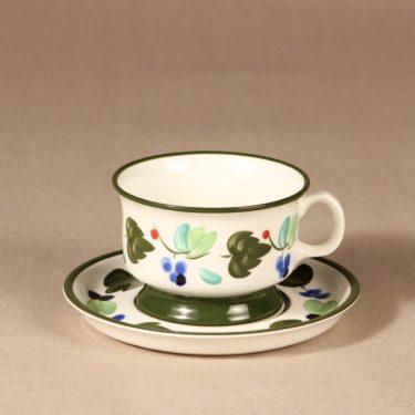 Arabia Palermo teekuppi, käsinmaalattu, suunnittelija Dorrit von Fieandt, käsinmaalattu, käsinmaalattu, signeerattu