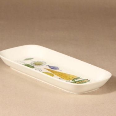 Arabia Vegeta serving bowl, hand-painted, designer Esteri Tomula, vegetable subject, shallow