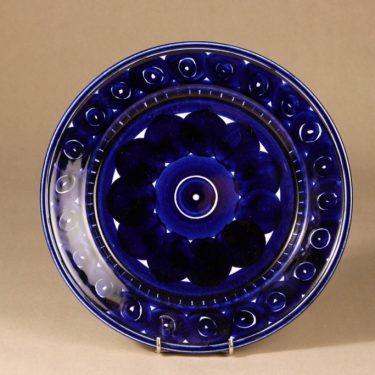 Arabia Valencia lautanen, käsinmaalattu, suunnittelija Ulla Procope, käsinmaalattu, käsinmaalattu, matala, signeerattu