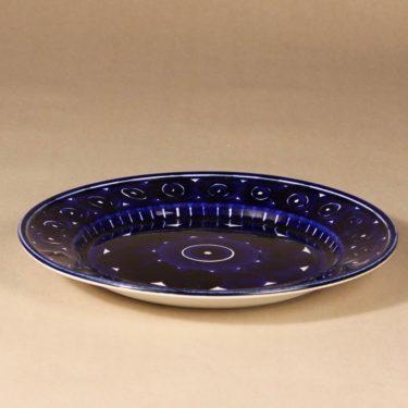 Arabia Valencia lautanen, käsinmaalattu, suunnittelija Ulla Procope, käsinmaalattu, käsinmaalattu, matala, signeerattu kuva 2