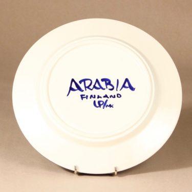 Arabia Valencia lautanen, käsinmaalattu, suunnittelija Ulla Procope, käsinmaalattu, käsinmaalattu, matala, signeerattu kuva 3