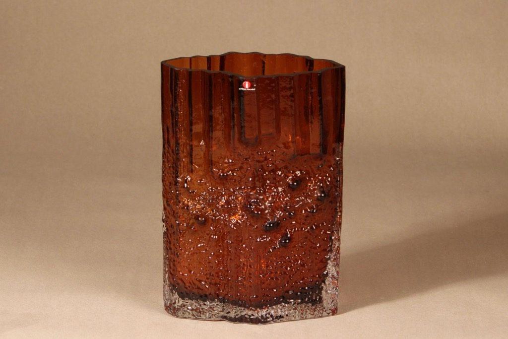 Iittala Pinus vase, brown, Tapio Wirkkala