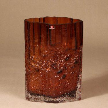 Iittala Pinus maljakko, ruskea, suunnittelija Tapio Wirkkala,