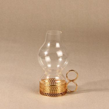 Iittala 24 Carat candlestick, gilted, designer Timo Sarpaneva