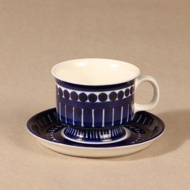 Arabia Valencia kahvikuppi, käsinmaalattu, suunnittelija Ulla Procope, käsinmaalattu, käsinmaalattu, signeerattu