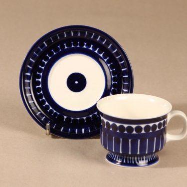 Arabia Valencia kahvikuppi, käsinmaalattu, suunnittelija Ulla Procope, käsinmaalattu, käsinmaalattu, signeerattu kuva 2