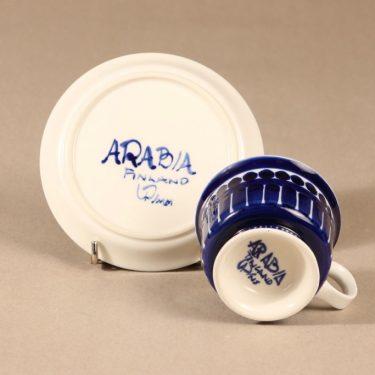 Arabia Valencia kahvikuppi, käsinmaalattu, suunnittelija Ulla Procope, käsinmaalattu, käsinmaalattu, signeerattu kuva 3